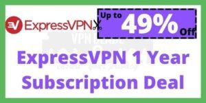 ExpressVPN 1 Year Subscription Deal