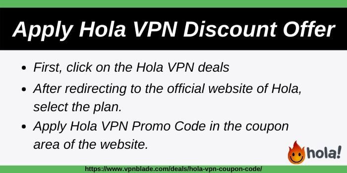 Get Discount on Hola VPN with these steps