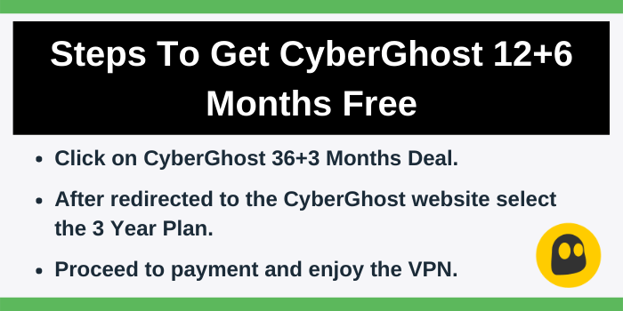 Get discount on CyberGhost