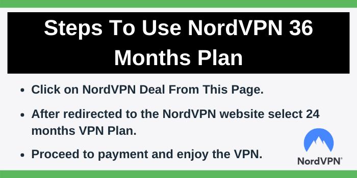 Steps To Get NordVPN 36 months