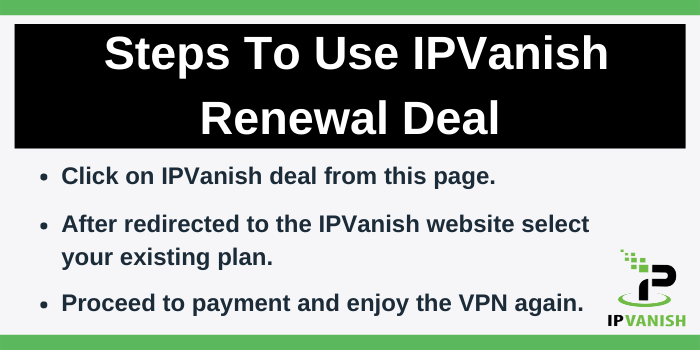 Steps To renew IPVanish
