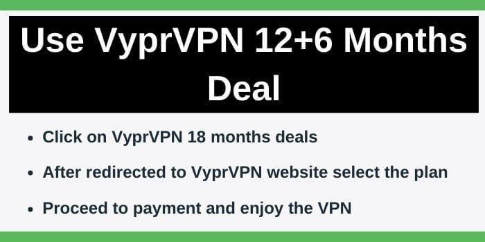 Steps to get discount on VyprVPN