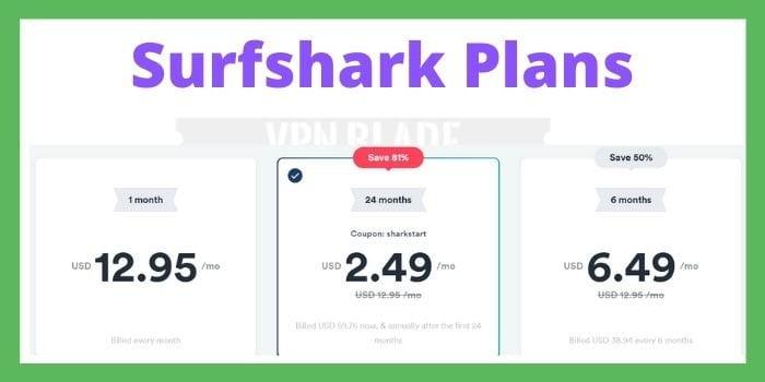 Surfshark Plans
