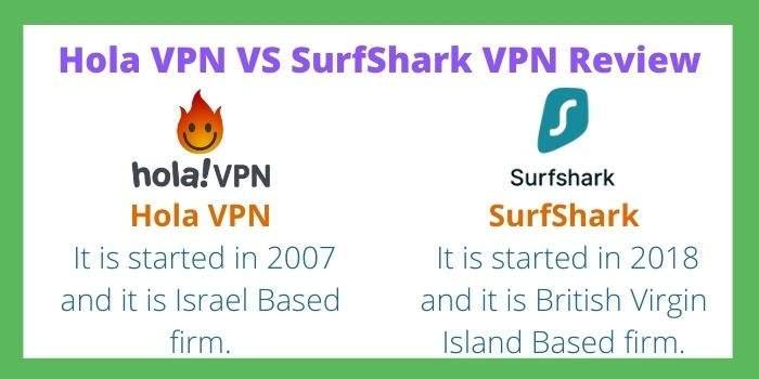 Surfshark Vs Hola VPN Review