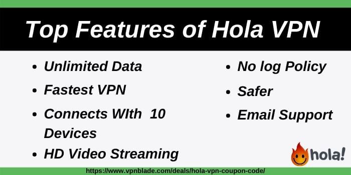 Top Hola VPN Features